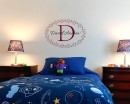 Customized Name Frame Wall Decal For Nursery
