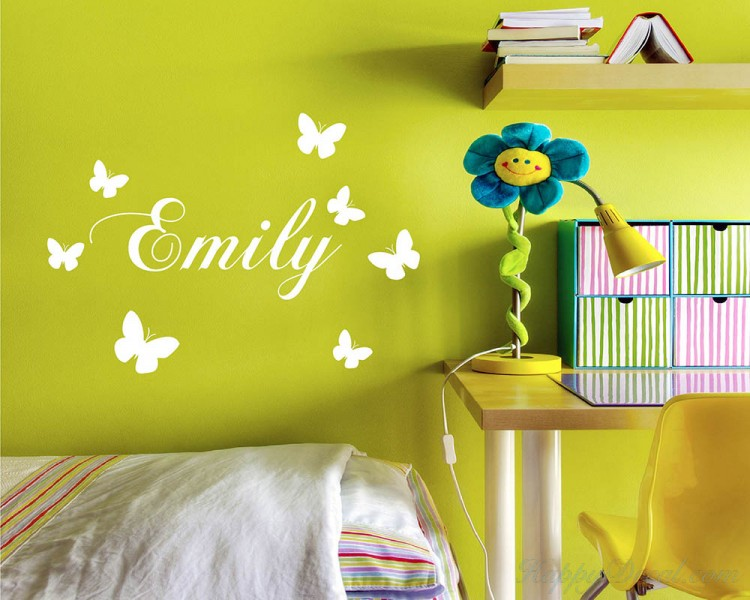 Butterflies Customized Name Decal