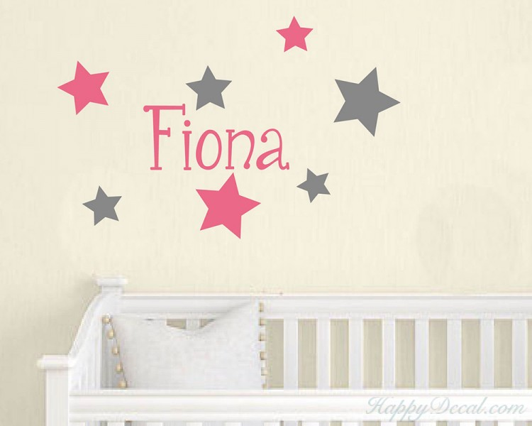 Stars Customized Name Decal