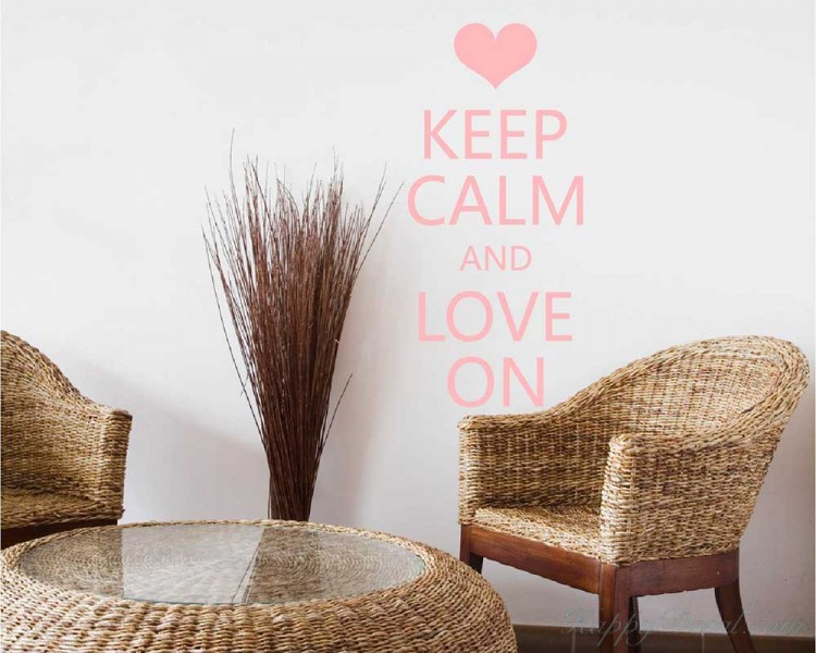 Keep Calm and Love On Quote Decal