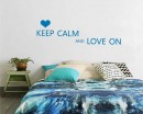 Keep Calm and Love On Quotes Vinyl Lettering Decal