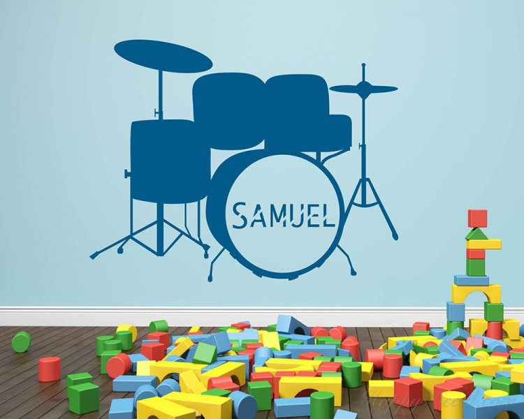 Drum Kit with Customized Name Decal