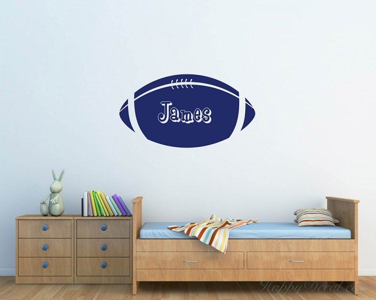 Rugby Customized Name Vinyl Decal Nursery Sticker