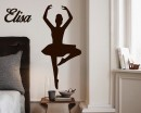 Ballet Dancer Customized Name Vinyl Decal Nursery Sticker