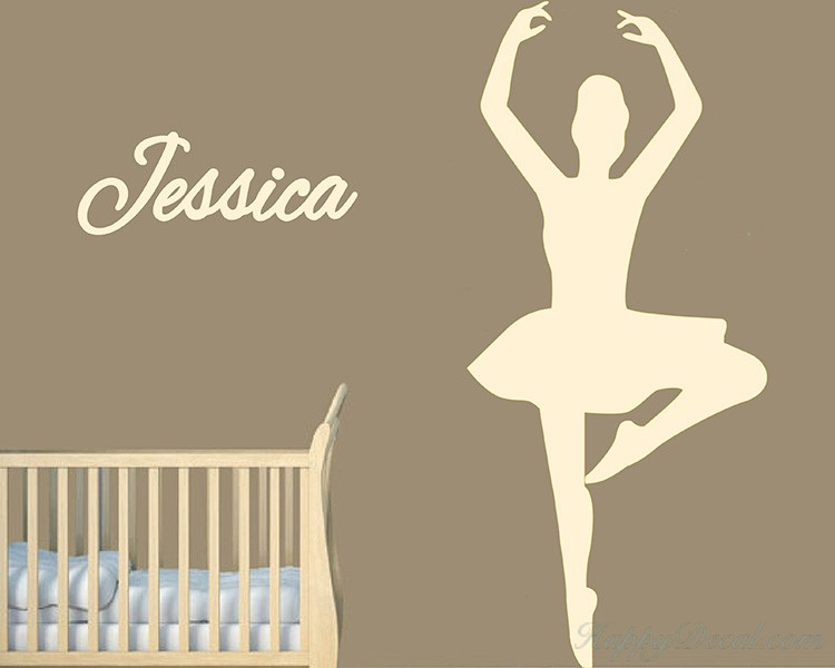 Ballet Dancer Customized Name Decal