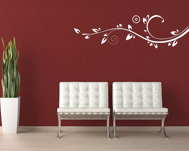 Beautiful Floral Vines Modern Decal