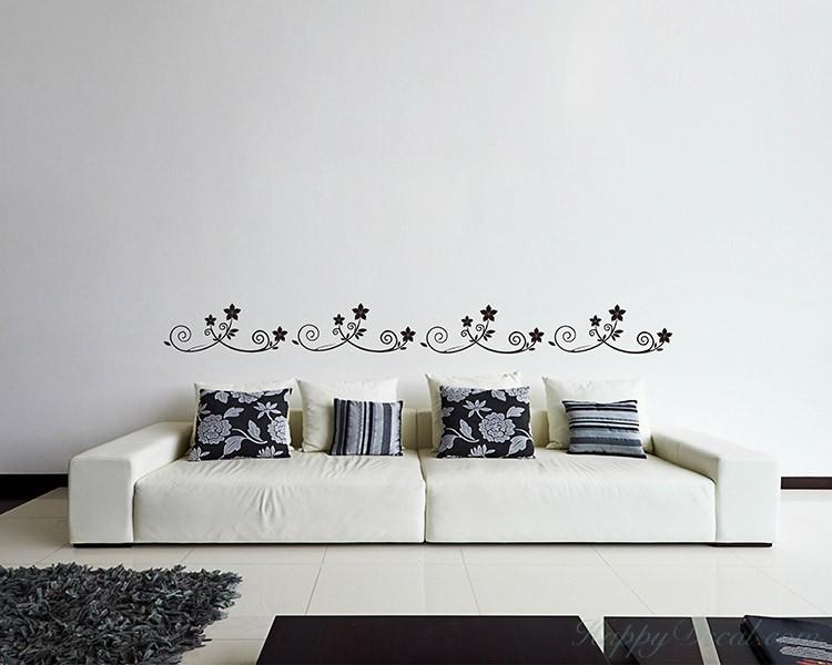 a set of 4 flower borders vinyl decals modern wall art
