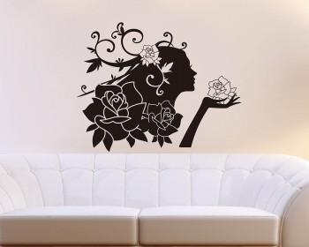 Rose Fairy Vinyl Art Decals Modern Wall Art
