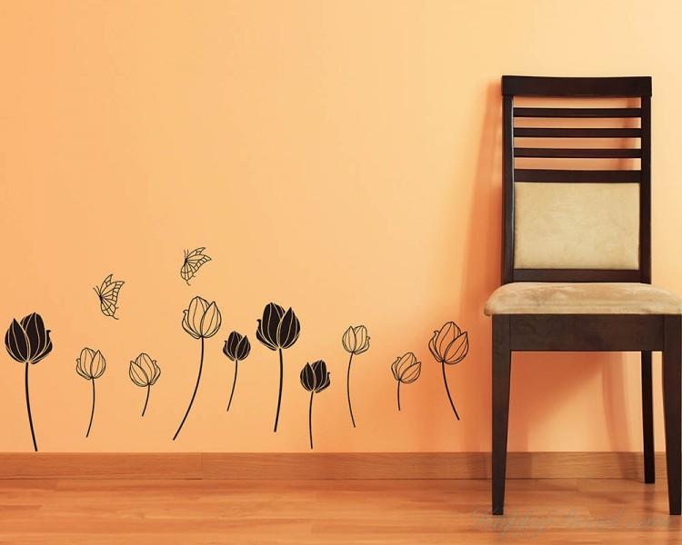 Tulip Vinyl Art Decals Modern Wall Art
