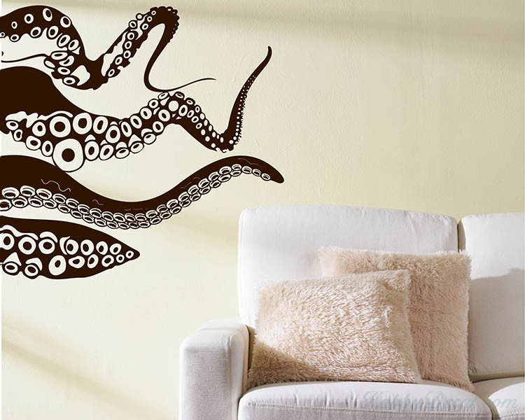 Octopus Vinyl Decal. Octopus Vinyl Decals Modern Wall Art Sticker  sc 1 st  Wall Decals Premium Vinyl Wall Art Stickers for Home u0026 Business & Octopus Vinyl Decals Modern Wall Art Sticker