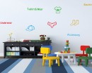 Clothes Label Nursery Vinyl Decal Cabinet Sticker
