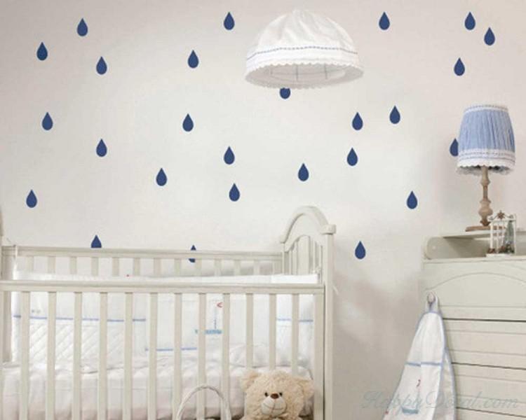 Raindrop Pattern Wall Decal