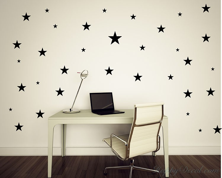 Stars Wall Pattern Decal Nursery
