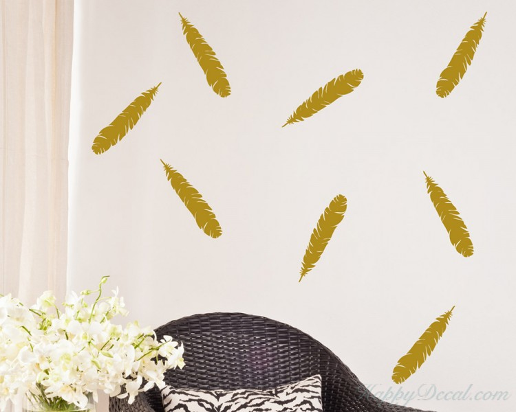 Feathers Pattern Wall Decal