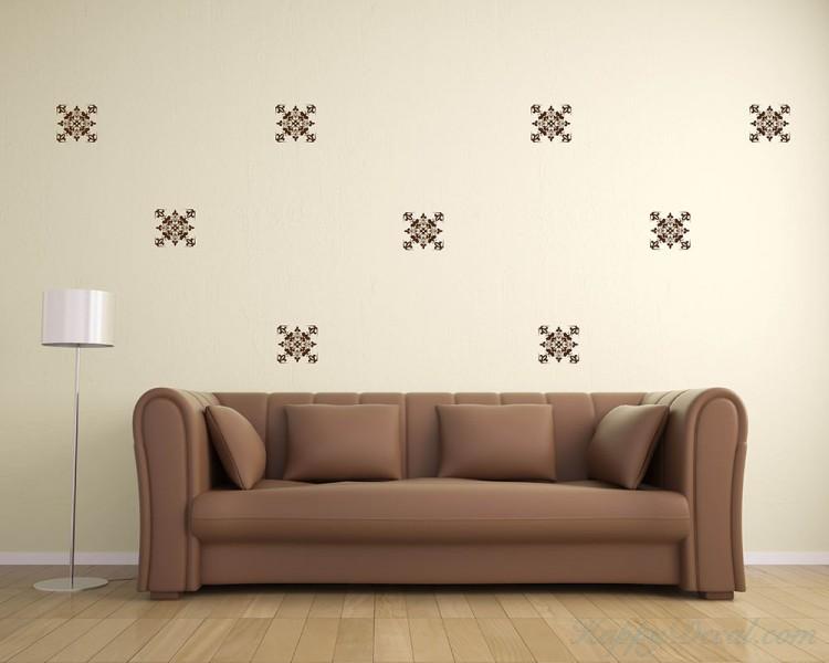 Damask Wall Pattern Decal