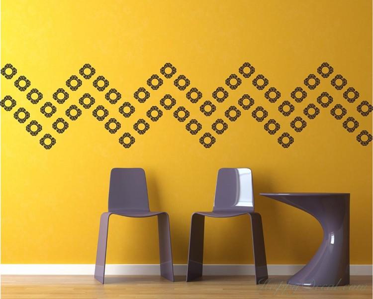 Wall Pattern Decal Modern Vinyl Art Stickers