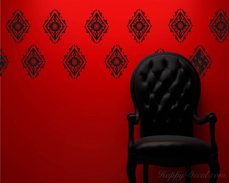 Damask Wall Pattern Decal