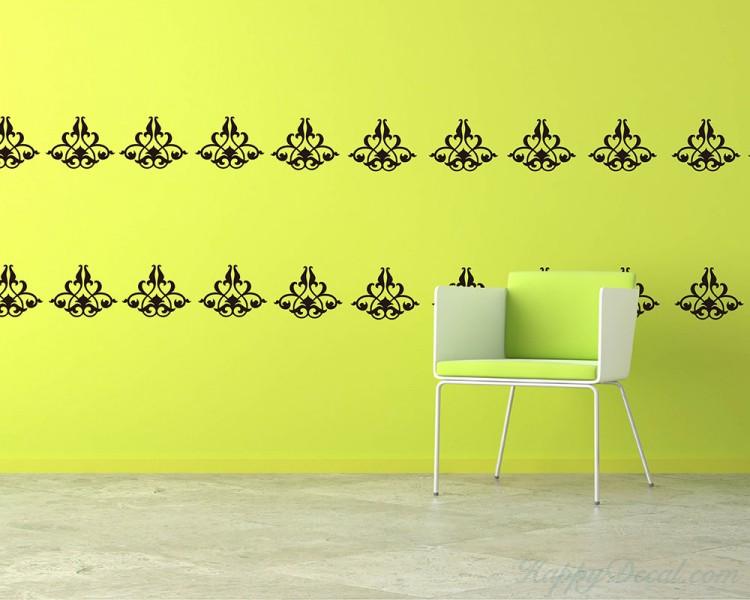 Damask Wall Pattern Decal Modern Vinyl Art Stickers