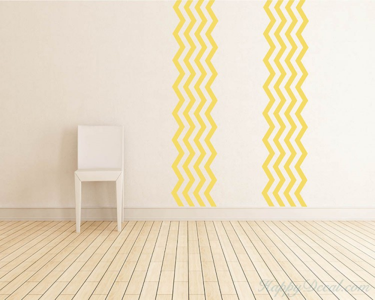 4 Chevron Stripes Wall Decal  sc 1 st  Wall Decals Premium Vinyl Wall Art Stickers for Home u0026 Business & 4 Chevron Stripes Wall Pattern Decal Modern Vinyl Art Stickers