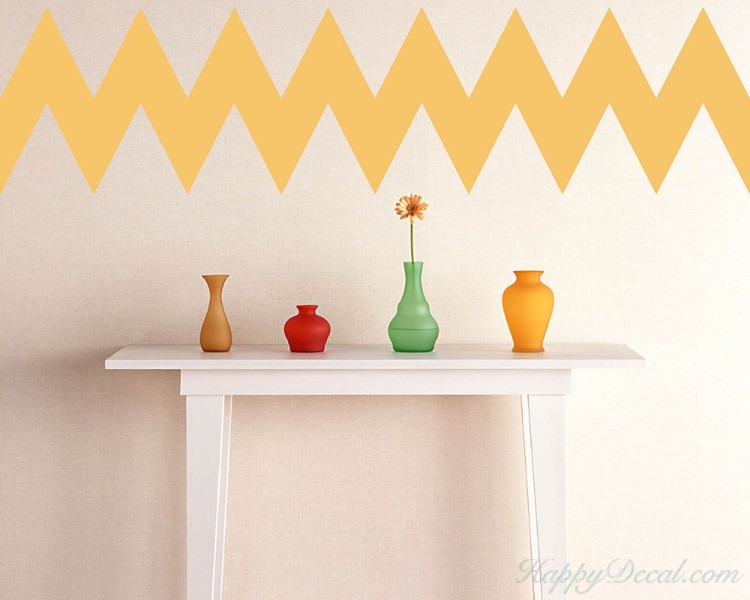 Chevron Stripe (acute angle) Wall Pattern Vinyl Decals