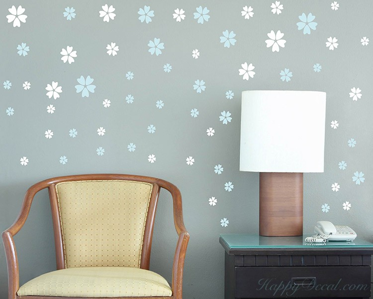 5 Petaled Flowers Decals