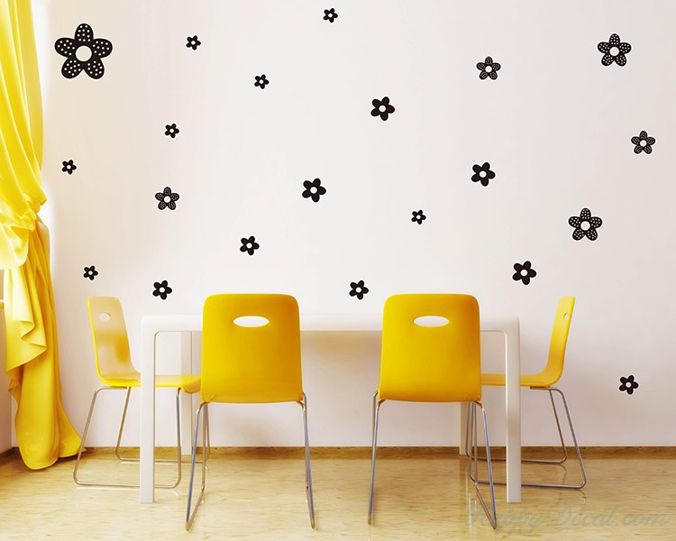 Princess Flowers Pattern Decal