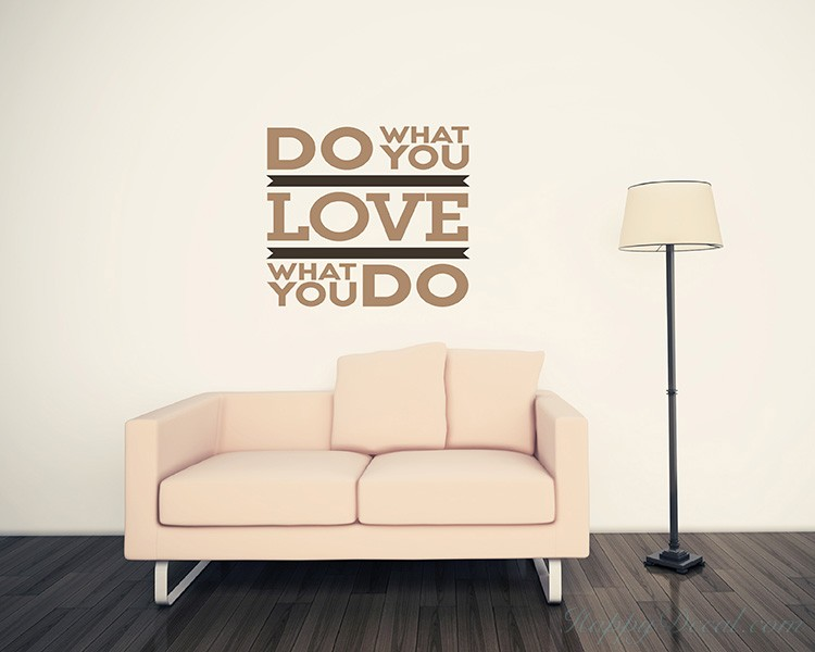 Do What You Love Quotes Wall Decal Motivational Vinyl Art Stickers