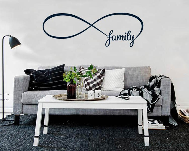 Infinity Family Quotes Wall Decal Quotes Vinyl Art Stickers