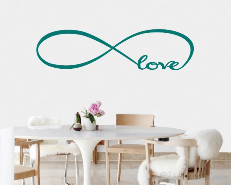 Infinity Love Quotes Wall Decal Quotes Vinyl Art Stickers Impressive Infinity Love Quotes