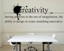 Creativity Quotes Wall Decal Motivational Vinyl Art Stickers