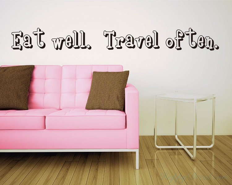Well Travel Often Quotes Wall Decal Motivational Vinyl Art Stickers - Wall decals motivational quotes