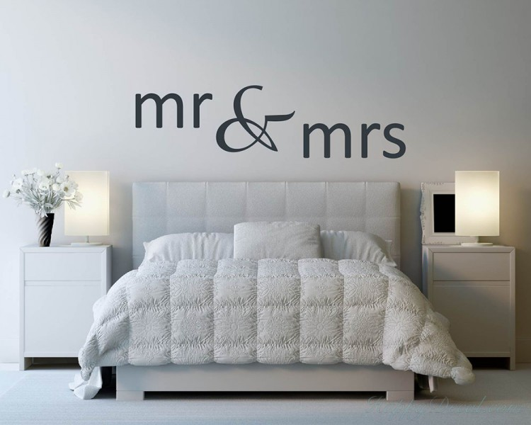 Mr & Mrs Quotes Wall Decal Love Vinyl Art Stickers