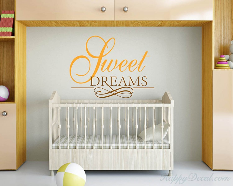 Sweet Dreams Quotes Wall Decal Motivational Vinyl Art Stickers
