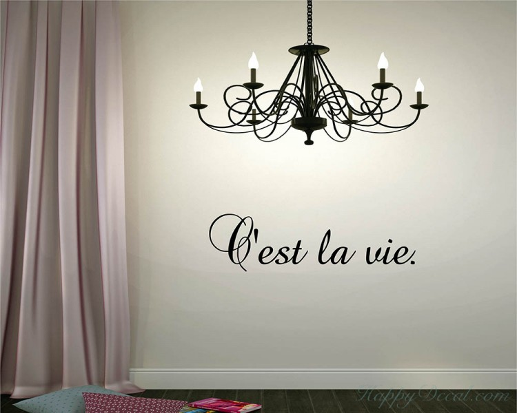 Cu0027est La Vie Quotes Wall Decal
