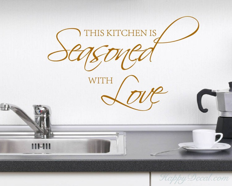 This kitchen is seasoned with love - Kitchen Wall Quotes Decal