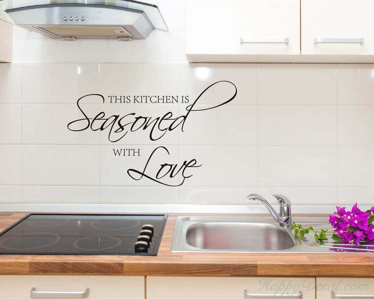 Kitchen Wall Quotes Decal Vinyl Art Stickers