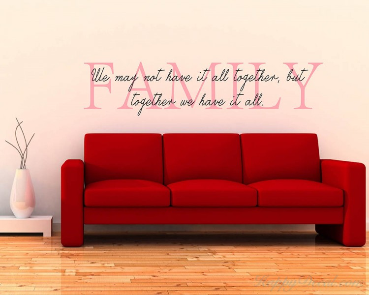 Family Quotes Wall Decal  sc 1 st  Wall Decals Premium Vinyl Wall Art Stickers for Home u0026 Business & Family Quotes Wall Decal Family Vinyl Art Stickers
