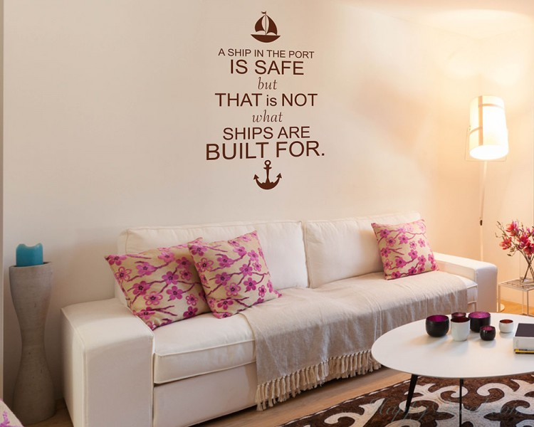A Ship Quotes Wall Decal