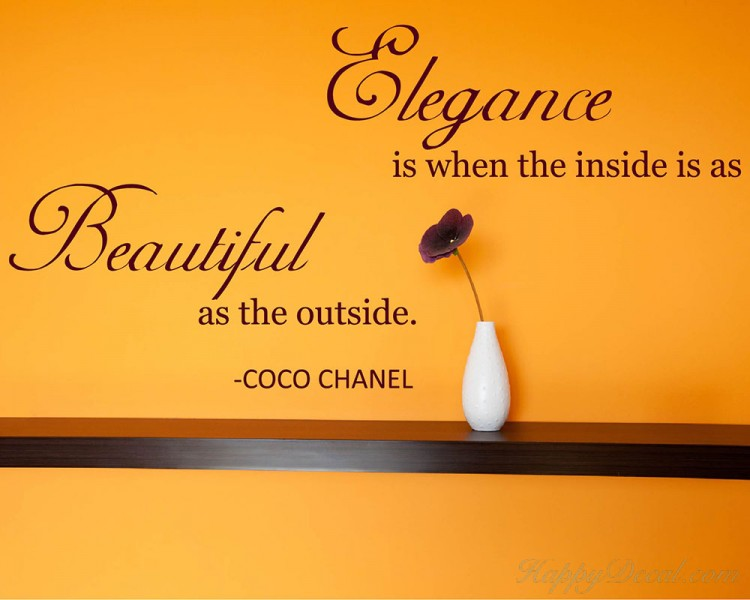 Elegance Quotes Wall Decal Motivational Vinyl Art Stickers