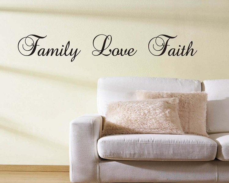 Family Love Faith Quotes Wall Decal Lettering Vinyl Art Stickers Inspiration Love And Faith Quotes