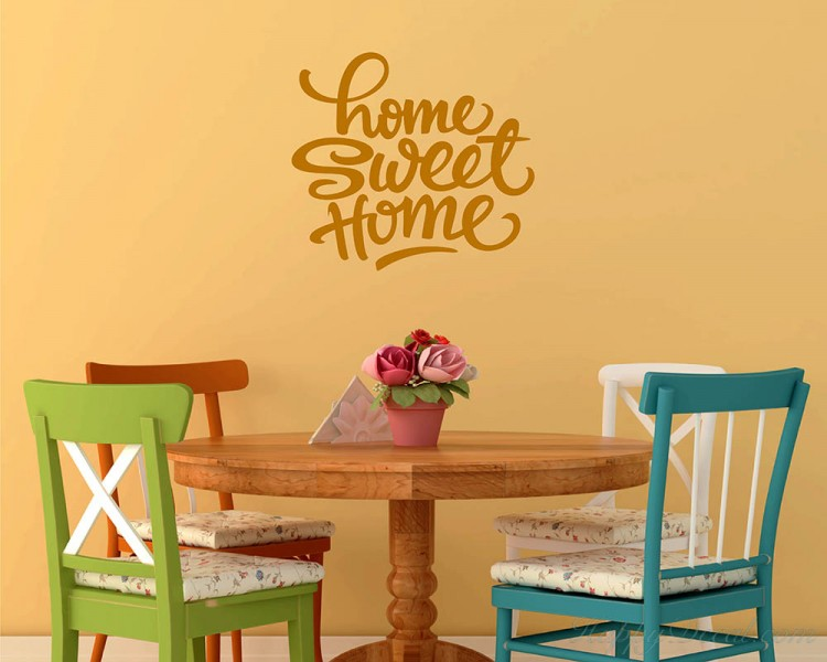 Home Sweet Home Quotes Wall Decal Family Vinyl Art Stickers