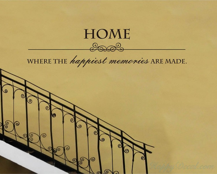 Home Quotes Wall Decal