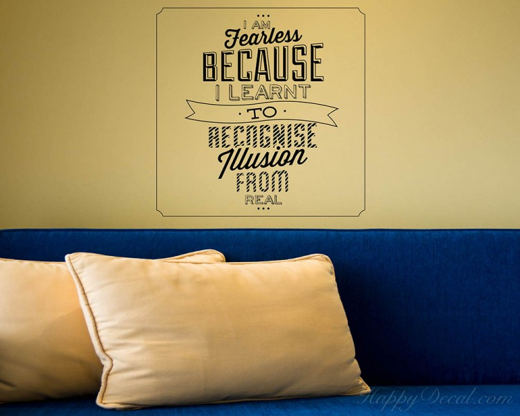 I am Fearless Quotes Wall Decal