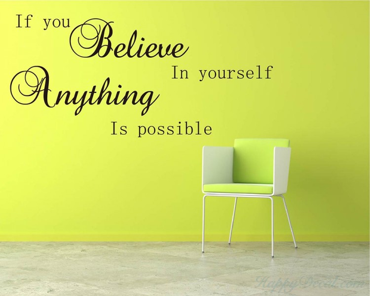 If You Believe Quotes Wall Decal