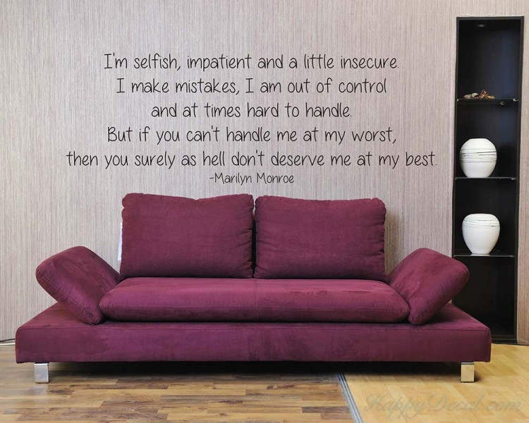 I M Selfish Quotes Wall Decal Motivational Vinyl Art Stickers