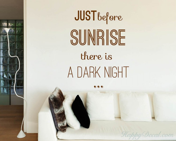 Just Before Sunrise Quotes Wall Decal