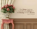 The Future Quotes Wall Decal Motivational Vinyl Art Stickers