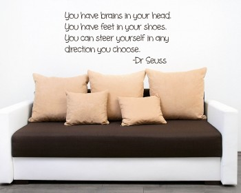 Quotes from Dr Seuss & Dr Seuss Wall Decals - Nursery Dr Seuss Vinyl Wall Art Stickers