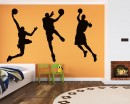 Basketball Man Vinyl Decals Silhouette Modern Wall Art Sticker