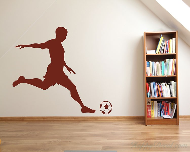 Boy Playing Soccer Silhouette Wall Decals & Boy Playing Soccer Silhouette Wall Decals Silhouette Modern Wall Art ...